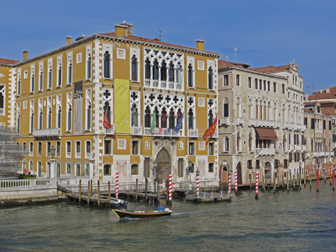 Palaces along the Grand Canal in Venice